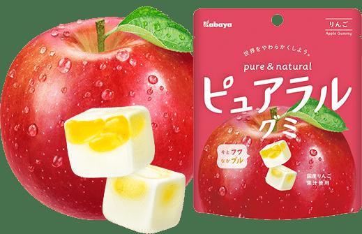 NEW! Japońskie żelki Pureral Gummy o smaku jabłka