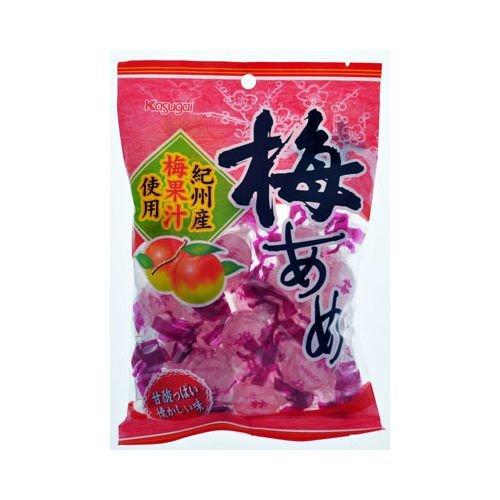 Karmelki o smaku śliwki ume japońskiej firmy KASUGAI